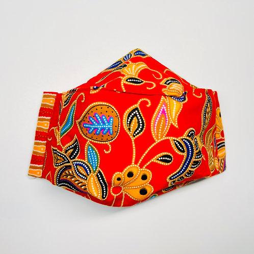 Mask - Red Batik