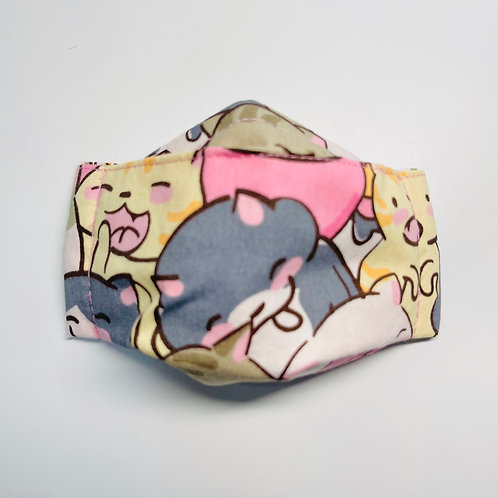 Mask - Joyful Kittens Pink Series 3