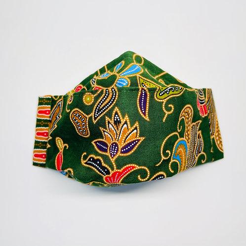 Mask - Green Batik Series 5
