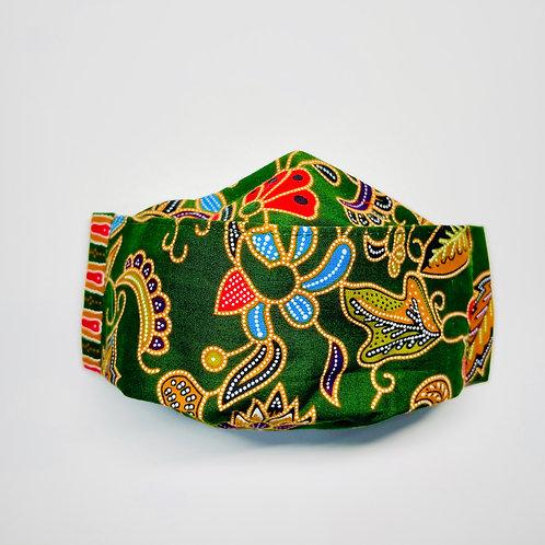 Mask - Green Batik Series 2