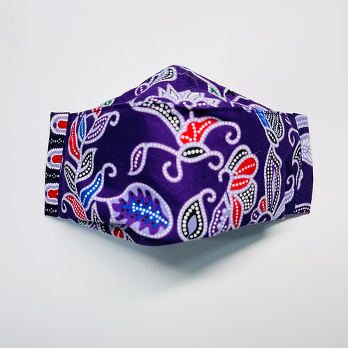 Mask - Purple Batik Series 2