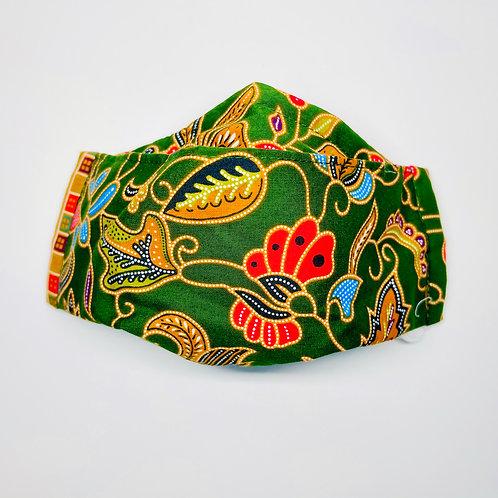 Mask - Green Batik