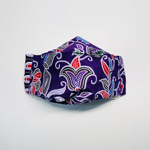 Mask - Purple Batik Series 1