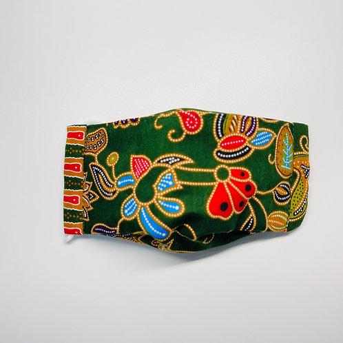 Mask - Green Batik Series 1