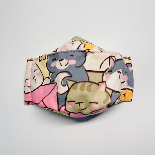 Mask - Joyful Kittens Pink Series 4