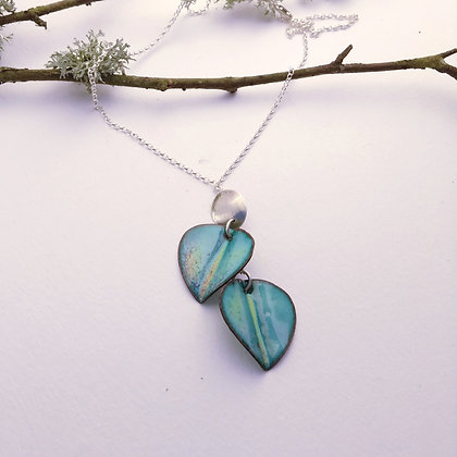 Enamelled Autumn Leaf Necklace