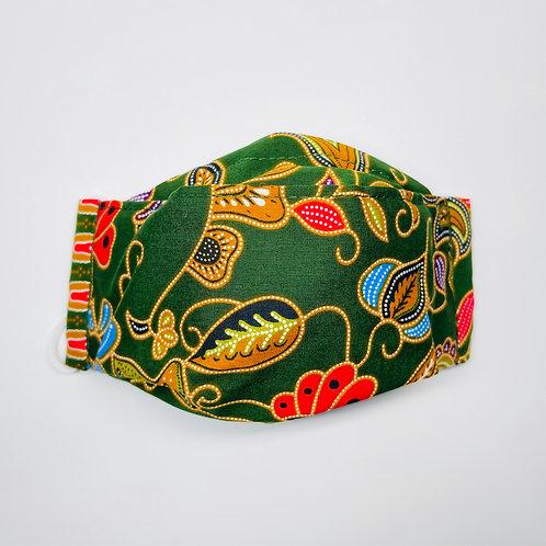 Mask - Green Batik Series 6