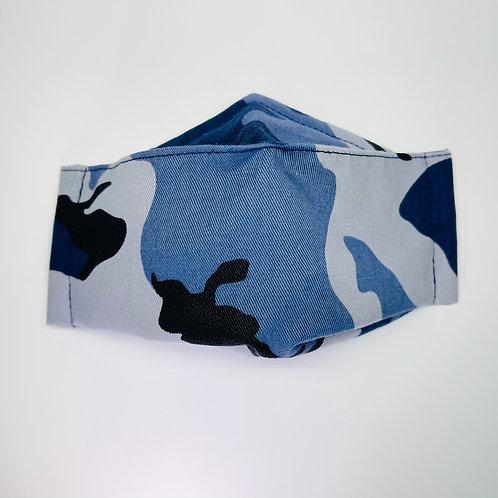 Mask - Dark Blue Camo