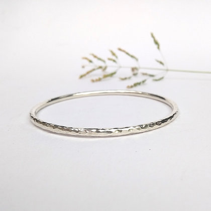 Slim Hammered Bangle
