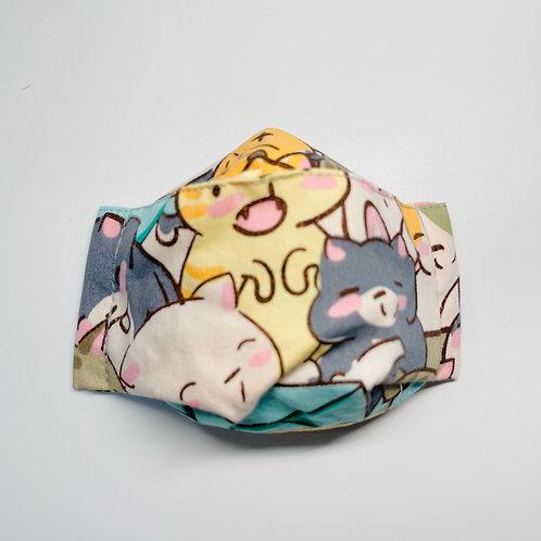 Mask - Joyful Kittens Mint Series 2