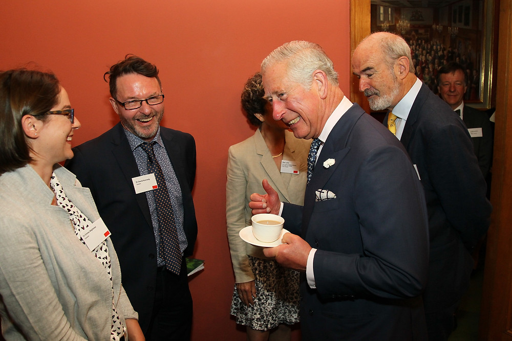 Professor David Kennedy and Dr Emma Wightman meeting HRH Prince Charles