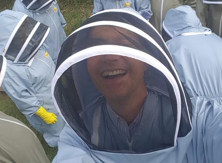 Mr Swarbrooke visits Bath Beekeepers Association