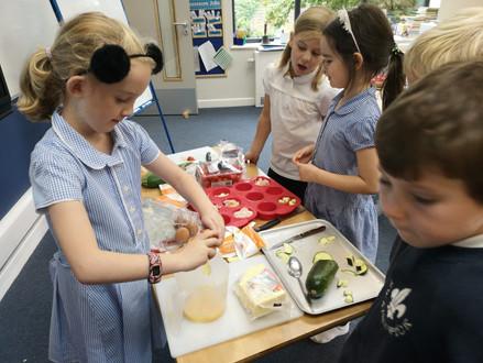 Challenge 2 - Hazel Class prepare a super tasty meal!