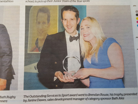 Congratulations to our very own Mr Rouse - who won Bath's Outstanding Services to Sport!