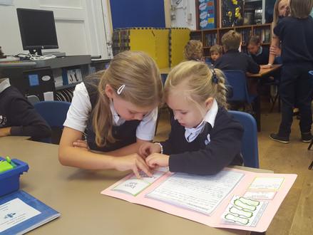 Oak Class sharing their work on Charles Darwin