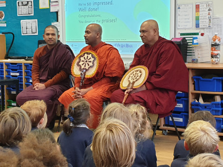 Our Buddhist Monk Friends Visit Swainswick