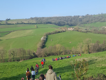 Easter Service at Wolley Church