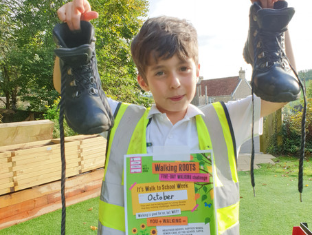 Challenge 5 ! Get your boots on for walk to school month!