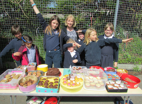 School Council Cake Sale for the Bath Cats and Dogs Home. Yum yum!