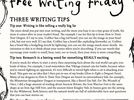 Free Write Friday!