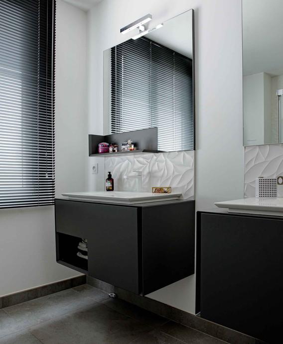 Rénovation d'une maison à Guist'hau Nantes - La salle de bain parentale