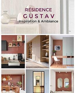 planche decorative residence service senior projet deco gustav agence dekode deco interieure nantes