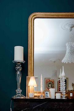 miroir dore ancien renovation maison agence dekode deco interieur nantes