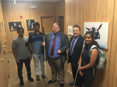 Visiting the National Federation for the Blind