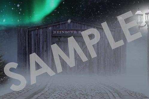 Reindeer Barn - Digital Backdrop