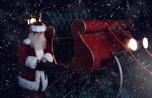 Santa by Sleigh