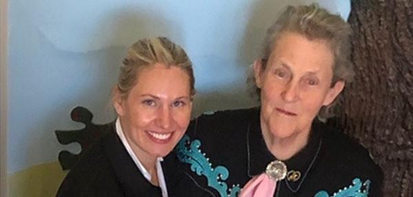 Maureen and autism spokesperson Temple Grandin.