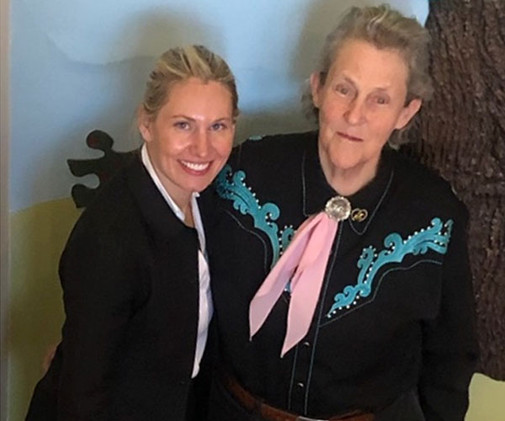 Maureen and Temple Grandin