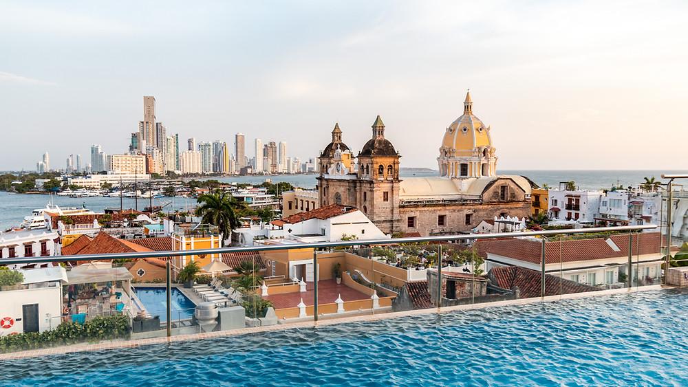 Cartagena- Movich hotel rooftop pool