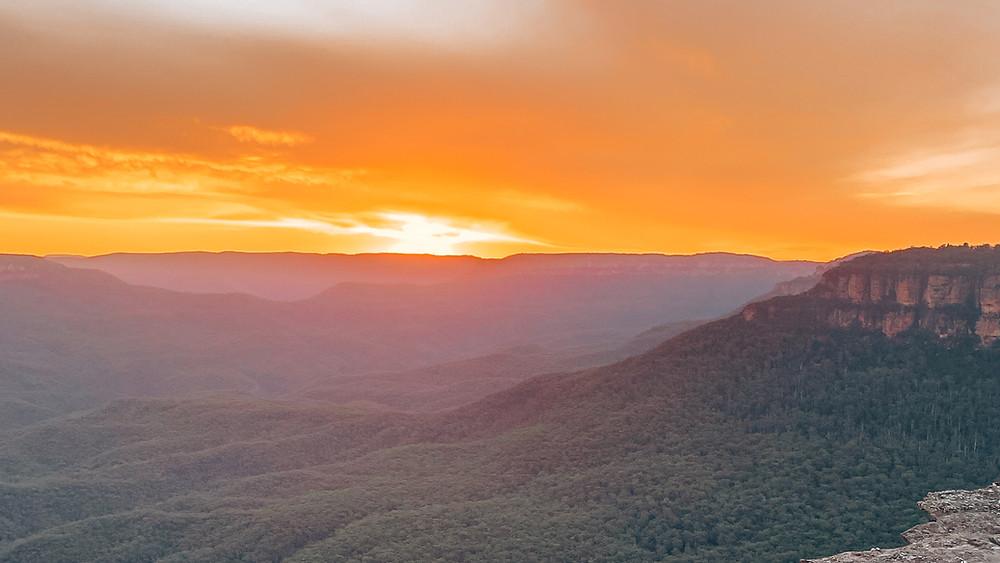 Lincoln's Rock, Blue Mountains, Sydney, Wentworth Falls, Katoomba, Leura, Australia