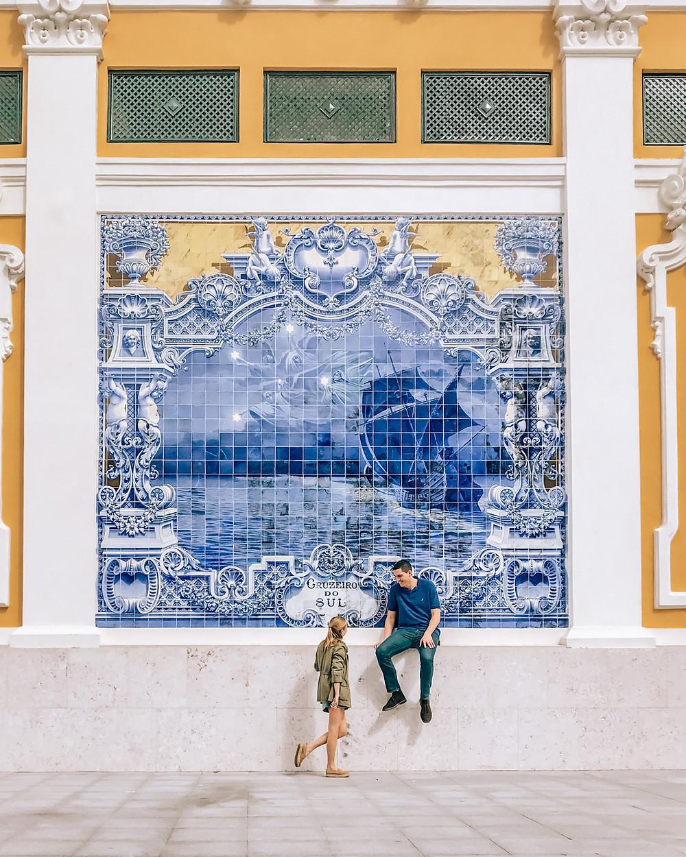lisbon portugal blue tiles