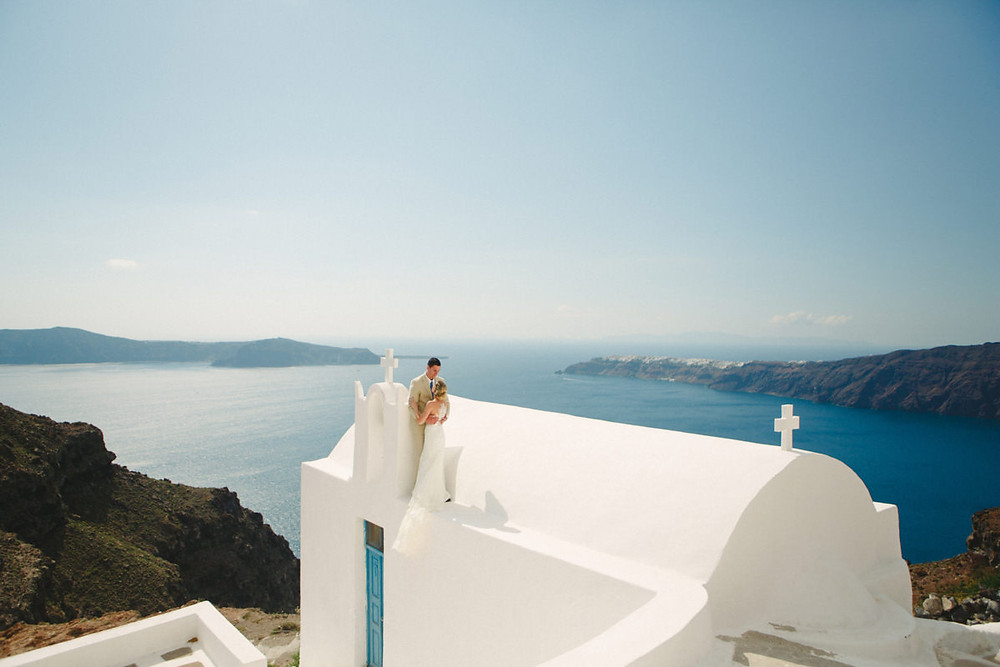 santorini wedding, greece, imerovigli