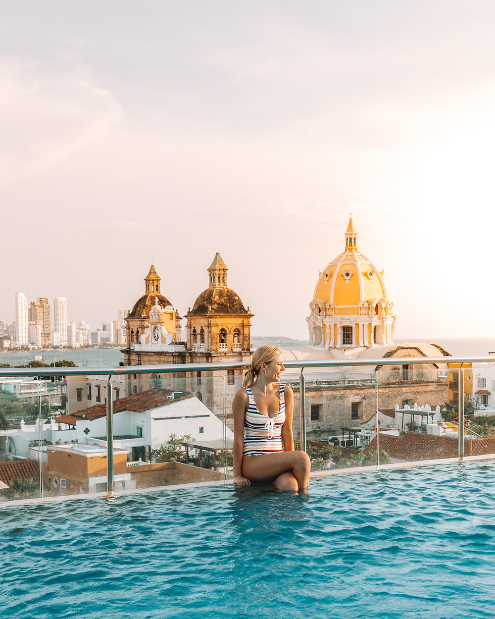 The most amazing view from the rooftop pool at Movich Hotel