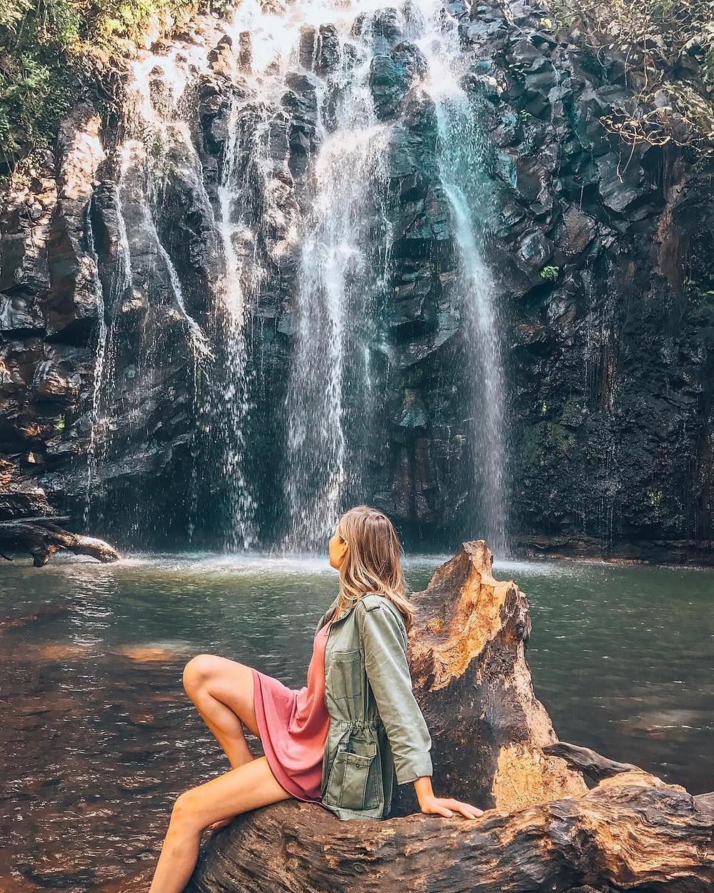 Ellinjaa Falls on the Millaa Millaa waterfall circuit in the Atherton Tablelands in Tropical North Queensland