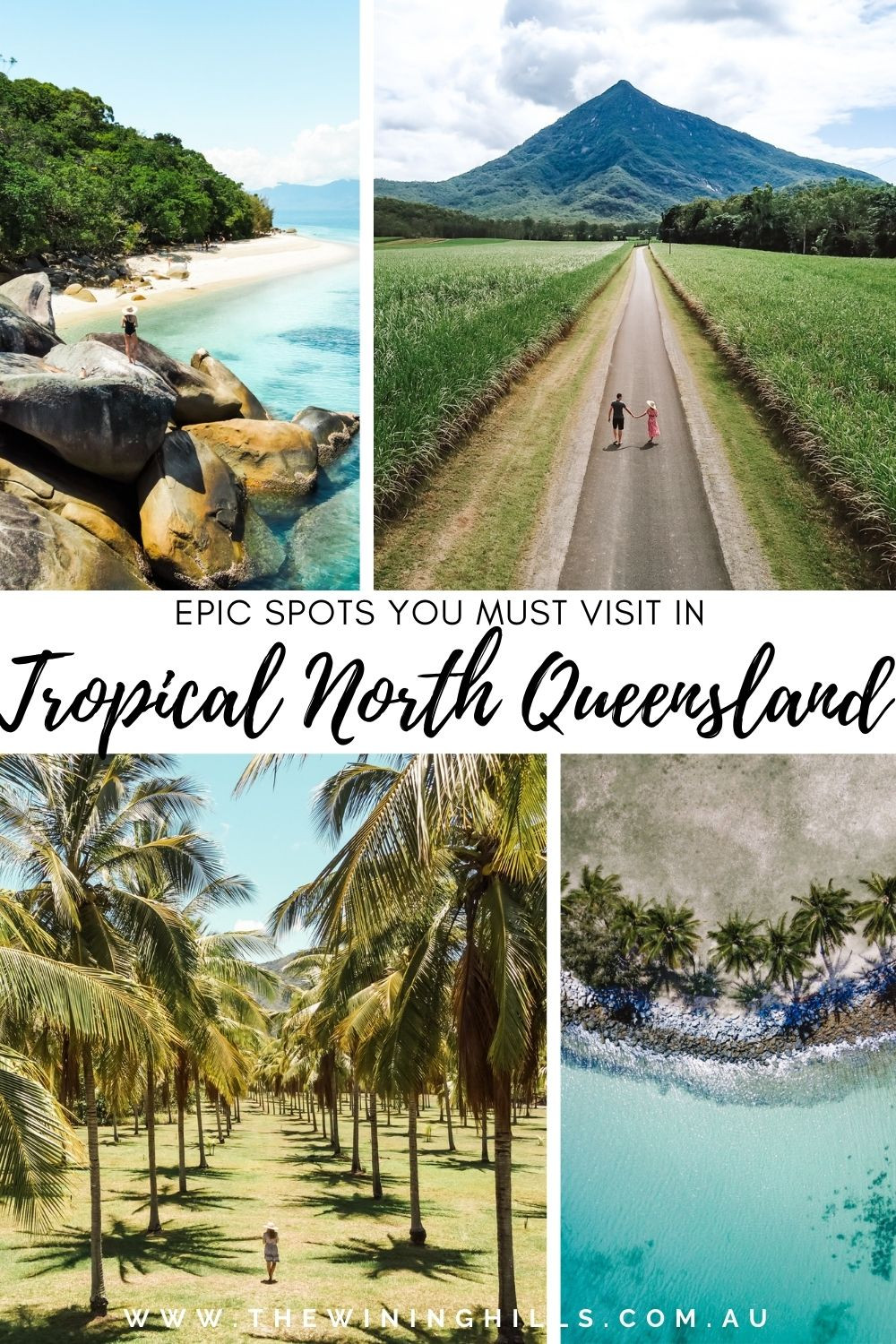 Epic spots you must visit in Tropical North Queensland, Australia like Windin Falls, Palm Cove, Port Douglas, Fitzroy Island, Atherton Tableland, Millaa Millaa Falls, and more!