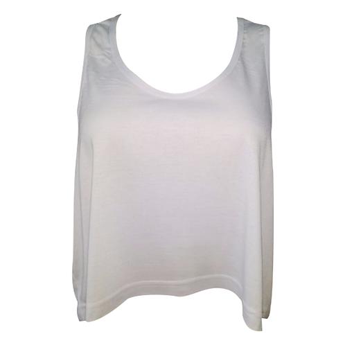 Blusa Crooped Branco Para Sublimação