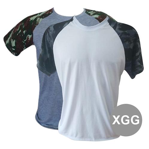 Camiseta Raglan Manga Camuflada XGG