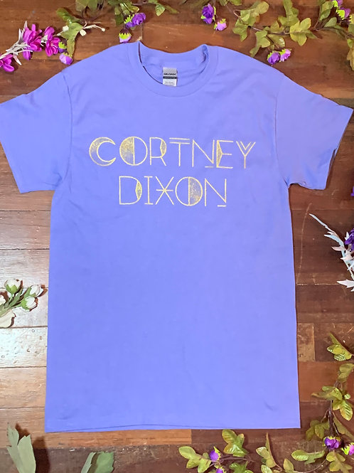 Cortney Dixon Violet & Gold T-shirt