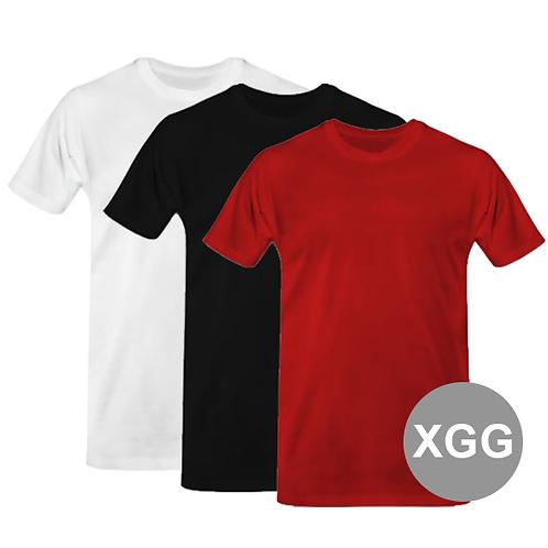 Camisa  XG 100% Algodão 30.1 penteado