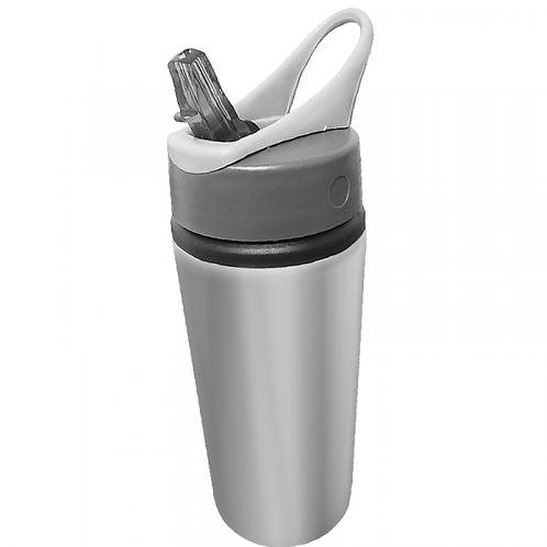 Squeeze Prata em Alumínio com Bico Retrátil para Sublimação (600ml)