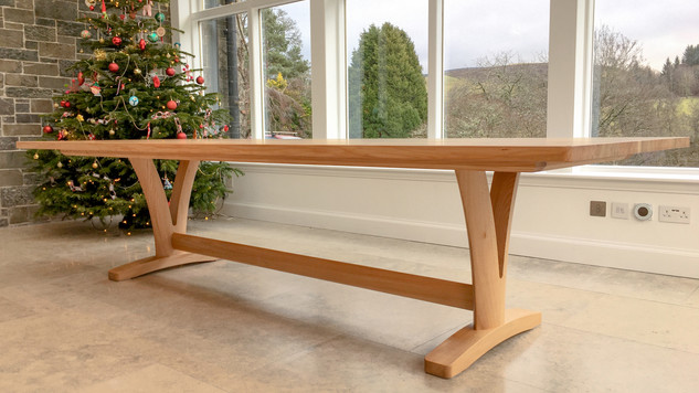 Scottish Elm dining table low shot 2