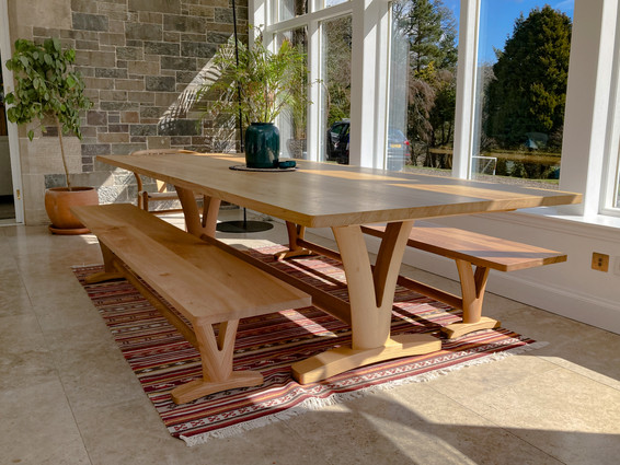 Solid Elm Pair Benches with Table.jpg
