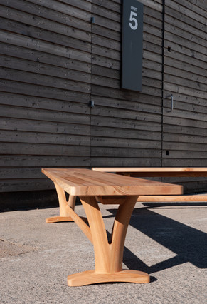 Solid Elm Pair of Benches 5.jpg