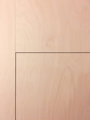 Birch Ply and White Formica Kitchen Util