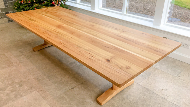 Scottish Elm dining table above