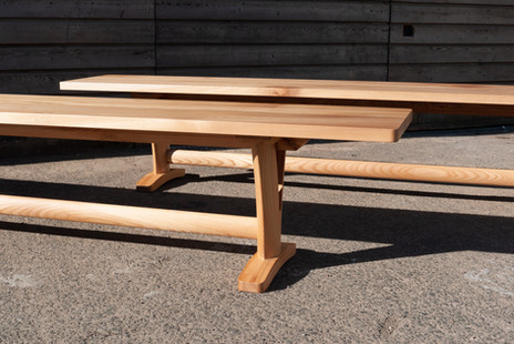 Solid Elm Pair of Benches 6.jpg